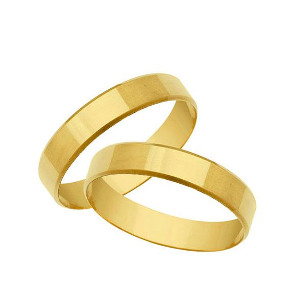 410ea732cd5 Alianças de casamento Quina Mansa Com Superfície lisa - OuroBras ...